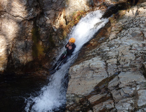 Man sliding down Sliding rock – Best Pics of Week One January